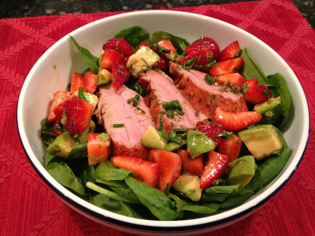 Chipotle Grilled Pork Tenderloin with Strawberry Avocado Salsa | John ...